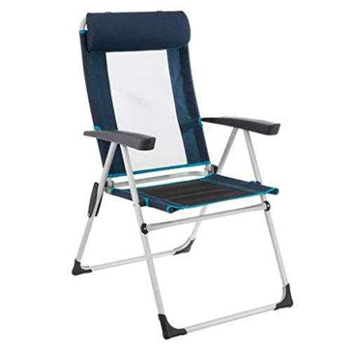 Household campingstoel, inklapbaar, voor outdoorsport, comfortabel, inklapbaar, ademend, 110 kg, voor kamperen, wandelen, stoel 86X58X10CM Zwart