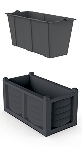 Bama 31966 Kit Arredo, Antracite, 80x42.5x42 cm