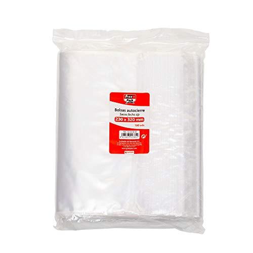 Fixo Pack 50063500-Pack de 100 bolsas autocierre, 250 x 350 mm