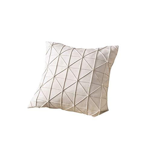 Kussensloop flanel bank Kussensloop Onzichtbare rits Vierkante decoratie bank Kussensloop Geen kern 45 cm x 45 cm 18