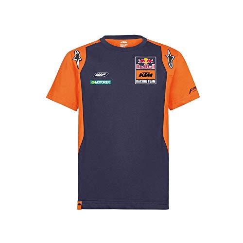 Red Bull KTM Official Teamline Camisa Polo, Azul Hombres Large Camiseta Manga Corta, KTM Racing Team Original Ropa & Accesorios