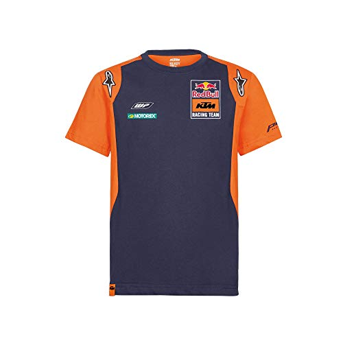 Red Bull KTM Official Teamline Polo Maglietta, Blu Uomini Large Polo Shirt, KTM Racing Team Abbigliamento & Merchandising Ufficiale