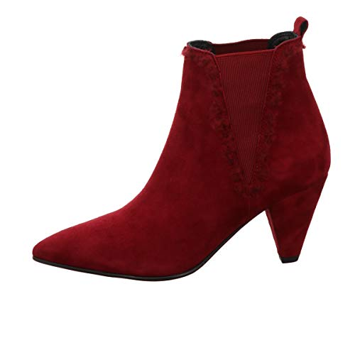 Kennel und Schmenger Chelsea-Stiefelette, Liz Velour Leder Rot Damen Schuhe > Damen Stiefeletten > Damen Stiefeletten Klassisch Größe 7 ½
