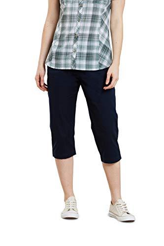 Mountain Warehouse Pantalon Capri Femmes Coast Stretch - Pantacourt léger, Pantalon d'été en Tissu Durable, Facile à Enfiler - Idéal pour Voyager, Marcher Bleu Marine 34