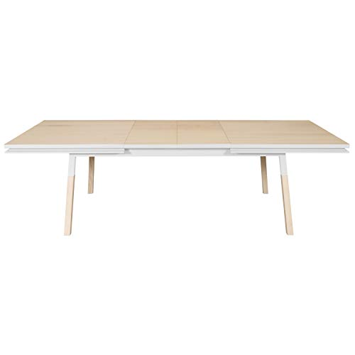 MON PETIT - Mesa rectangular de madera maciza, color blanco