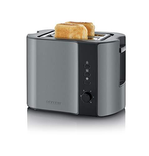 SEVERIN AT 9541 Automatik-Toaster (800 W, Inkl. Brötchen-Röstaufsatz, 2 Röstkammern) metallic grau/schwarz