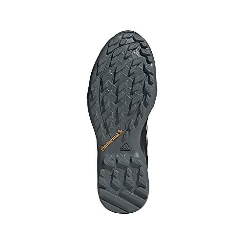 adidas outdoor Men's Terrex AX3 Hiking Boot, Black/White/Acid Yellow, 10