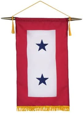 AllStates Flag Blue Star Service Max 64% OFF Banner Luxury 2 Inch 8X12