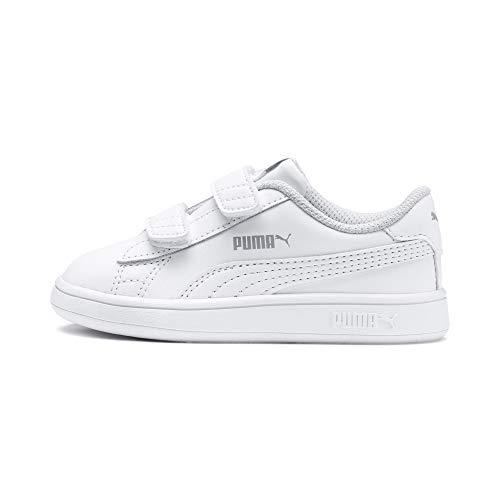 Puma Smash v2 L V Inf, Baskets Basses Mixte Enfant, Blanc (Puma White), 27 EU