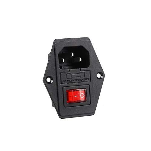 Interruptor basculante Interruptor de alimentación IEC Rocker 3 Pin 320 C14 tomas de corriente del conmutador Conmutador Conector de enchufe de 10A 250V AC impresora 3D de energía ( Color : Switch )
