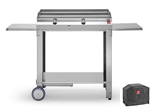 Planet Plancha Gaz MOMA 80 Inox Lisse+Chariot Ouvert+Housse