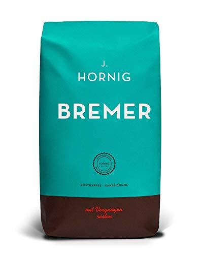 J. Hornig Kaffeebohnen Bremer, 500g, kräftiges und würziges Aroma, für Vollautomaten, Filterkaffeemaschine oder Espressokocher, ganze Bohnen