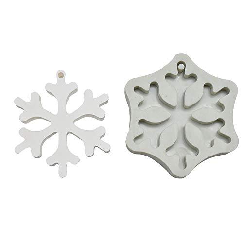 Dosige Seifenform Weihnachts Schneeflocke Gießform Silikonform für Seifen und Kerzen Bodymelt Gips-Form Seifengießform Seifenstempel 8.5 * 7 * 1.7cm