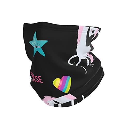best& I Ride A Unicorn - Diadema de invierno negro sobrenatural para la cabeza, bandana para la cabeza, bufanda para el cuello, calentador de cabeza, pasamontañas para deportes