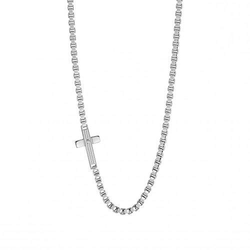Nomination Collana da Uomo con Ciondolo Monte Carlo in Acciaio Inox, con zirconi Bianco 48cm–024327/001