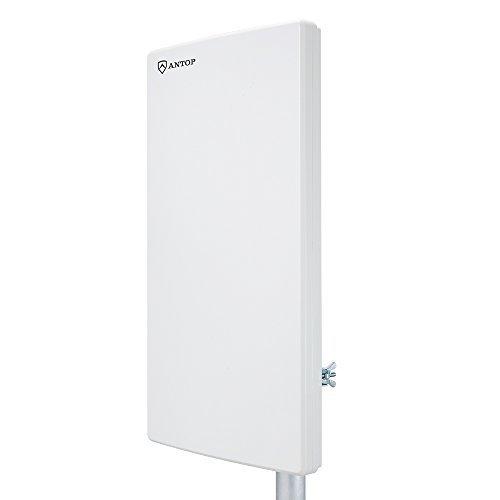 ANTOP Antenna Dual-Omni-Directional Outdoor HDTV Antenna Exclusive Smartpass Amplifier &4G LTE Filter,Enhanced VHF/UHF Reception,15ft