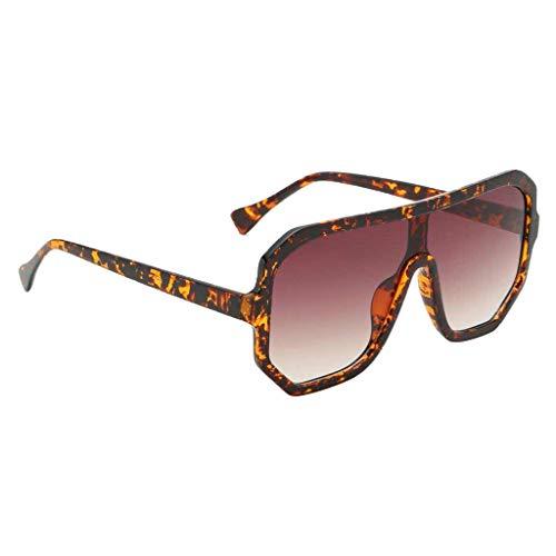 F Fityle Gafas de Sol con Montura Cuadrada de Gran Tamaño para Hombre Y Mujer - Leopardo