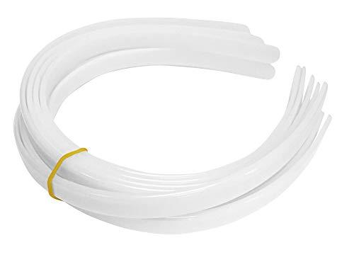 Overstock Price-HipGirl 12ct Plastic Headband Fashion Headbands for Women's Hair,White Hair Bands for Women's Hair.1/2' Thick Headbands for Women (Diademas Para Mujer de Moda)-12ct 1/2' White Headband