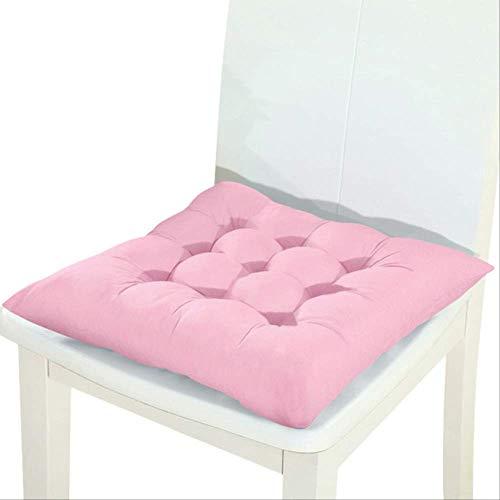 NoNo Stoelleuningskussen, bedrukt stoelkussen, winter, office, bar, sofakussen, zitkussen 45x45cm roze