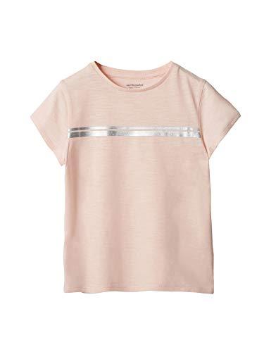 Vertbaudet Mädchen Sport-T-Shirt mit Glanzstreifen zartrosa 146/152