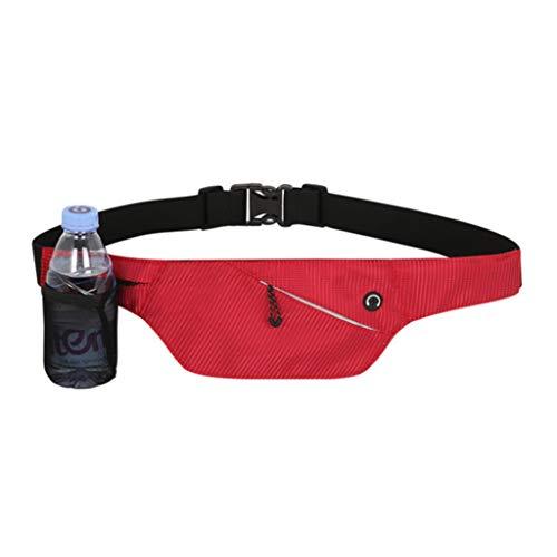 QZZQ Bolsillo Exterior Multifunción Caldera Individual Invisible Invisible Transpirable Ajustable para Hombres Y Mujeres Marathon Fitness Run