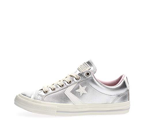 Converse Sneakers Bambina Star Player EV Ox 665874C Argento Argento 27 EU