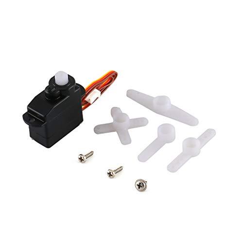 SeniorMar Miniatura Popular de bajo Voltaje 2.2g Dirección Digital Servo de Alta Velocidad sin núcleo para Orlandoo Hunter Modelo RC Crawler Model Car