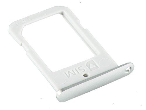 ICONIGON Ersatz für Galaxy S6 Edge (SM-G925F) SIM-Kartenhalter (Weiß + Blau)