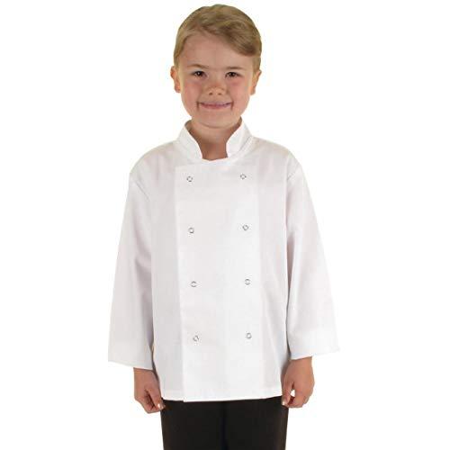 Catering aparato superstore–B124chaqueta de chef para niños, color blanco