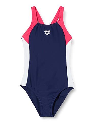 ARENA Mädchen Sport Badeanzug Ren, Navy-Freak Rose-White, 140