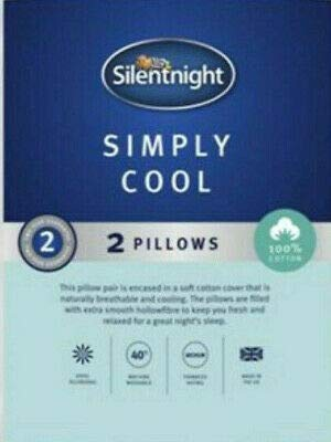 Silentnight 2 x 100% COTTON SIMPLY COOL PILLOWS -DEEP SLEEP ULTRA BOUNCE PILLOWS