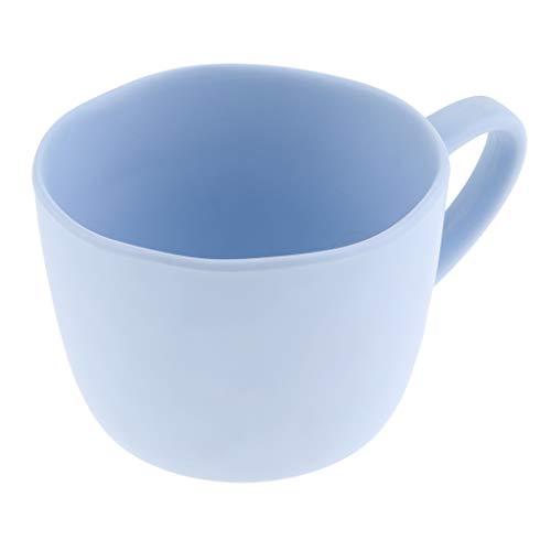 non-brand Baoblaze Tasse à Café avec Soucoupe Empilable en Plastique Écologique - Mug Pourpre