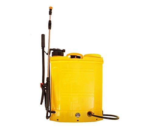 mws Nebulizzatore a Batteria e Manuale Pompa diserbante 18 lt Multiuso 12 AH
