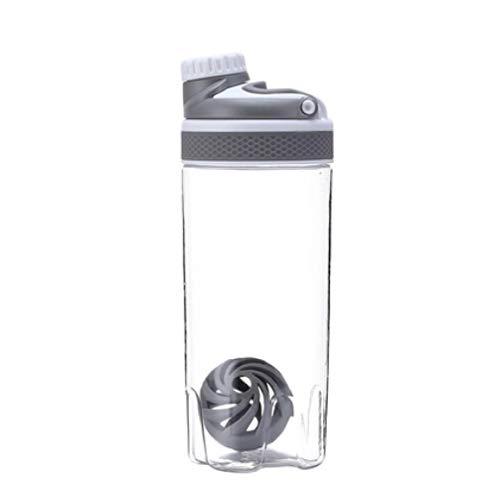 ASDFG - Botella de Agua de 500 ml de proteína en Polvo, Mezcla de proteínas, Botella de proteínas, Deportes, nutrición, Deportes, nutrición, balón agitador | Botella de Agua, 500 ml, Color marrón
