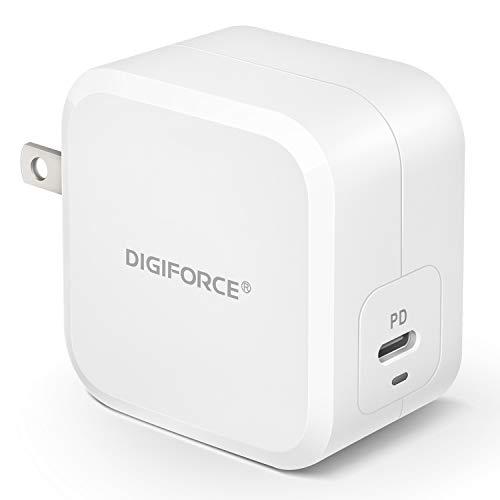 DIGIFORCE 急速 PD 充電器 TypeC GaN 窒化ガリウム USB-C for iPhone 12 iPad Pro 充電器 61W ホワイト