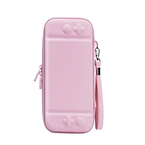 Teyomi Bolsa de transporte rígida para Nintendo Switch Bolsa de viagem portátil com capa protetora de TPU macio compatível com Nintendo Switch para meninas meninos(PU céu rosa)