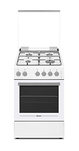 Candy CCGG512SW/E - Cocina libre instalación 50cms - Encimera gas 4 zonas y horno gas 43L - Color Blanco - Clase A