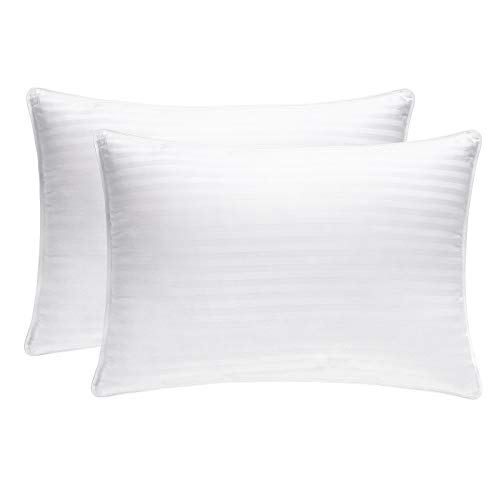 JZS Hotel Collection Bed Pillow for Sleeping, Premium Plush Fiber Filled Pillow for Side and Back Sleeper, Down Alternative Hypoallergenic Pillow
