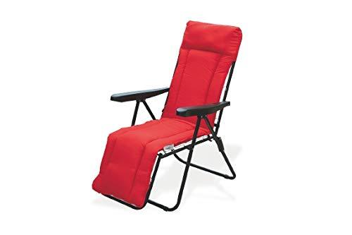 Galileo Casa Madrid ligstoel rood bekleed 5 zits