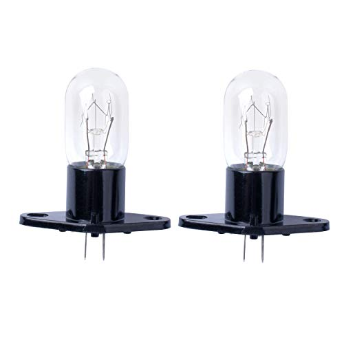 Poweka Mikrowellenbirne, 20W 240V Mikrowellen Garraum Lampe für Bosch, LG, Panasonic, Siemens Mikrowellenherd 2pc