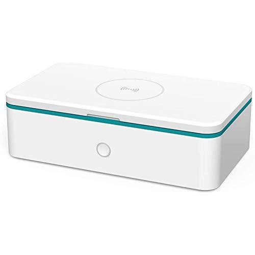 Ultrasonic Cleaner UV Desinfektionsmittel & Box Handy Sterilisator,10W UV Box Desinfektion mit USB-Aufladung für Masken Babyflaschen Gläser,Mit Aroma Diffusor, Drahtloses Ladegerät