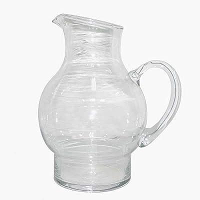 Better & Best Jarra de cristal, con pedestal, medidas 18x14x24 cm
