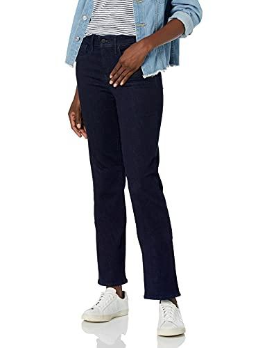 NYDJ Womens Misses Marilyn Straight Denim Jeans, Rinse, 16