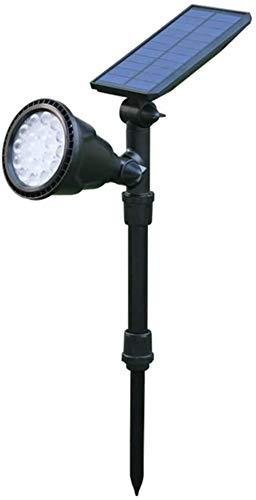 Solar Lights, waterdichte 18W LED Solar Spotlight Verstelbare wandlamp, Landschap Lichteffecten Auto On/Off for Patio Deck Yard Garden Oprit Pool Area, Kleur: Wit Licht (Color : Warm Light)