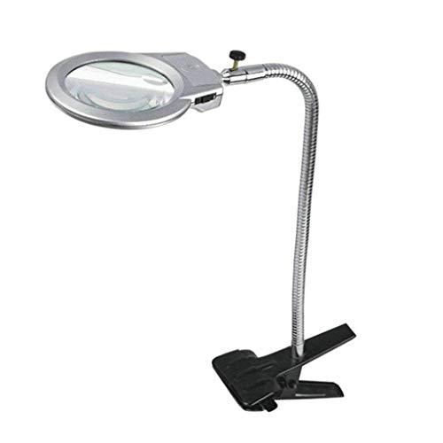 Vergrootglas HD, spiegel ondersteund door nietvergrootglas 3X bureaulamp 3X met HD-lens voor het lezen van boeken, identificeren van sieraden, horloges, knutselen en repareren, zwart, 1