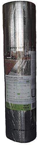 Unterlagsbahn PROLINE PROBASE EPS 1,6 Aqua-Stop, 25 m² Trittschalldämmung mit Dampfsprerre für Vinyl Parkett und Laminatböden
