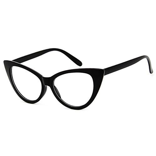50er Jahre Damen Brille Elvis Rahmen Partybrille Cat Eye Katzenauge Dress up Parteien Dawnzen®