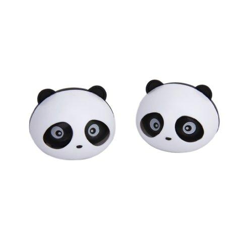 2 Pcs Panda Assainisseur d'Air de Voiture Désodorisant Parfum avec Deux Clips (Noir)