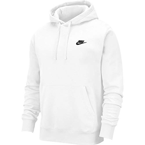 Nike Pull Over Hoodie, White/White/Black, Large