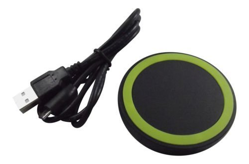 Ultra Wireless QI Charger Pad NFC Mini Portable Circle for Mobile Phones Tablets Negro Cargador de Dispositivo móvil
